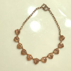 Stella and Dot rose gold necklace